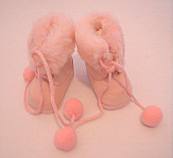 Pink Fur Trimmed Boots /