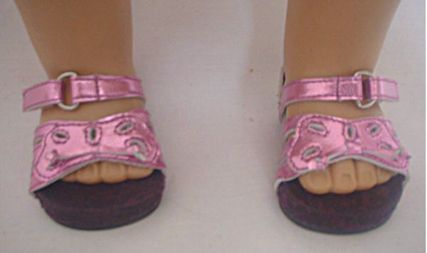 OFFER Metallic Pink Butterfly Sandal