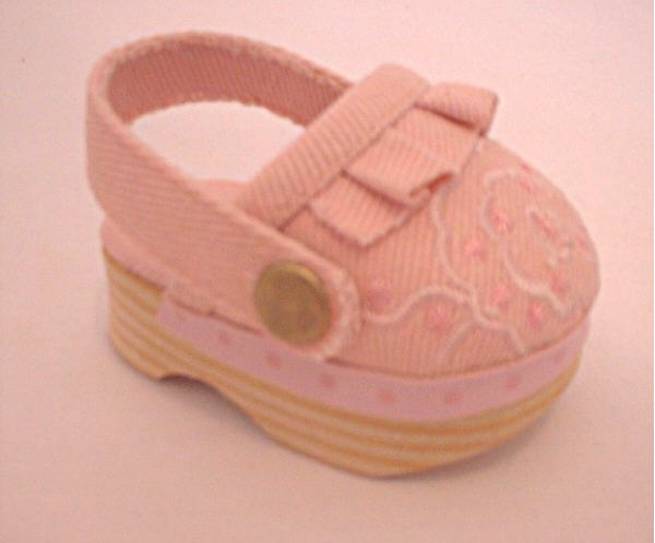 Pink Canvas Clogs /