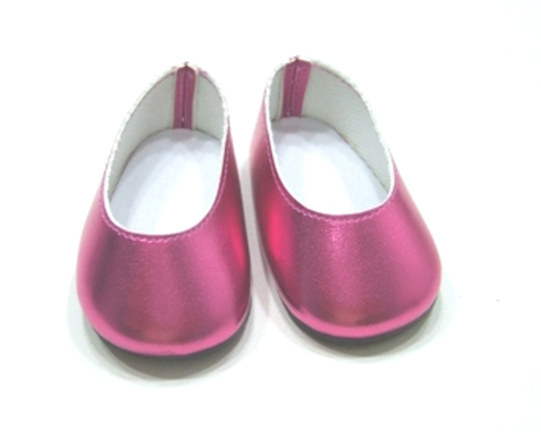 Metallic Hot Pink Slip On Shoes