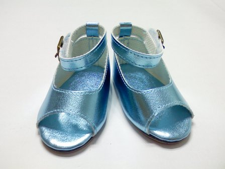 Blue Metallic Sandals