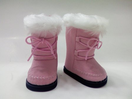 Pink Mod Suede Boots /