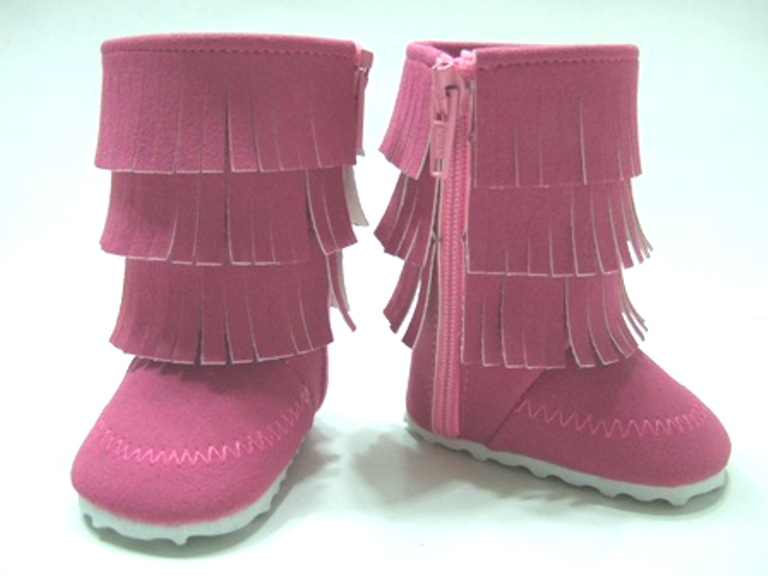 Pink Fringed Boot /