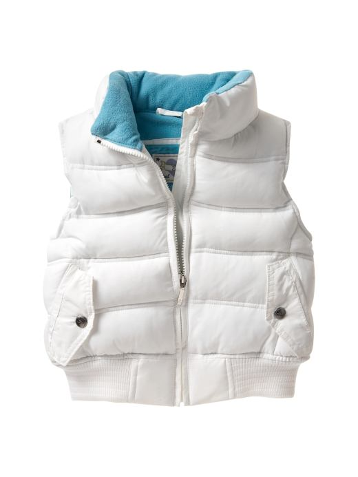 White Padded Vests /