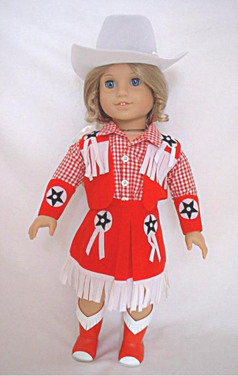 Red Cowgirl Skirt Set
