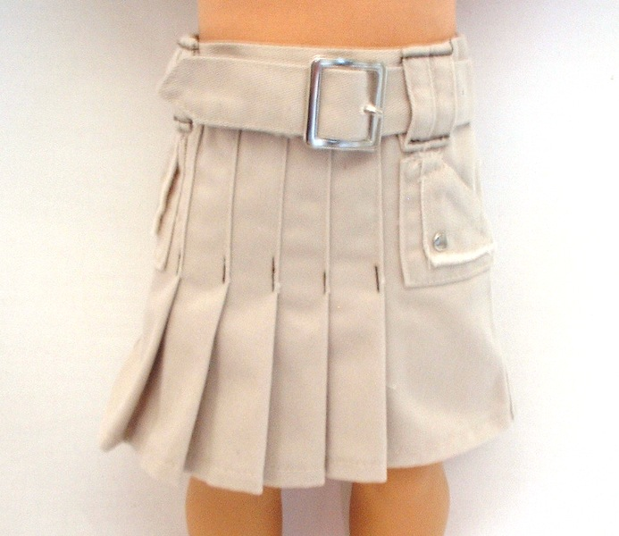 OFFER Tan Pleated Sportswear Skirt