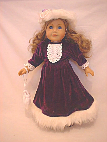 Purple Velvet Old Fashioned Dress /