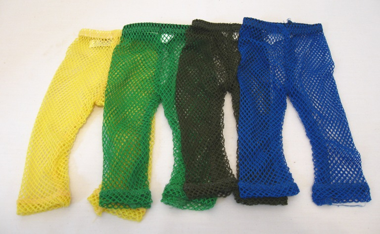SALE Bright Yellow Fishnet Stockings
