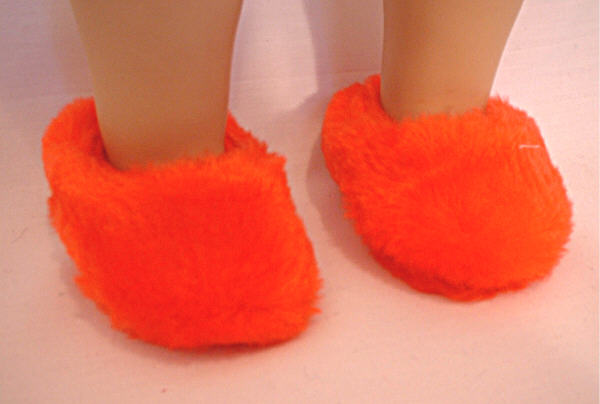 Red Plush Slippers /