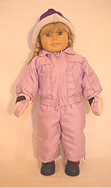 Box Of 47 Purple Skiing Outfit With Mittens
